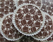1 Doz FOOTBALL Designer Chocolate Covered Oreos NFL Superbowl Father's Day