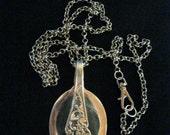 Silver spoon pendant vintage English epns Long Chain pendant necklace