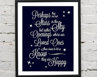 Perhaps They Are Not Stars Self Adhesive Print Wall Decal