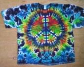 3X Peace Sign Tie Dye