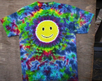Childrens-Smiley Face Tie Dye Size Youth Large