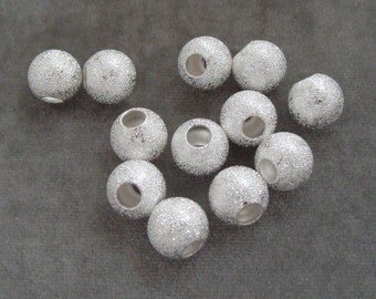 12 Silver Plated 12mm Stardust Spacers with Large Center Hole Findings (614)