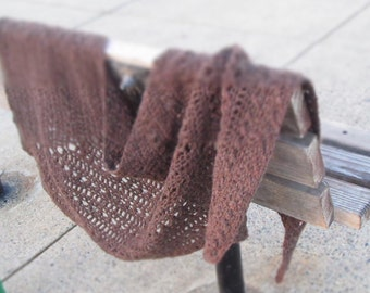 Short Sands easy beginner crochet shawl pattern - pdf file - directions only