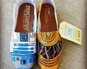Star Wars R2D2 / C3P0 Toms - Made to Order - MENS / WOMENs TOMs