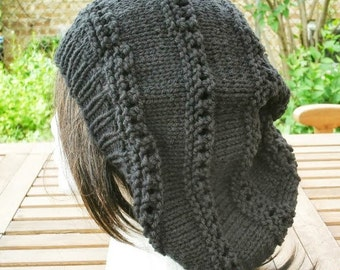 Womens Hat - Knit Hat - Eyelet Rasta in Black - Womens Fashion - Accessories