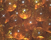 Vintage 24 Gold Glitterized 13mm Buttons 13MM   FR7