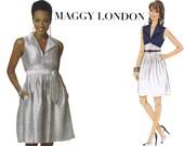Maggy London Dress Pattern - Butterick 5558 - Empire Dress Sewing Pattern - Uncut, Factory Folds