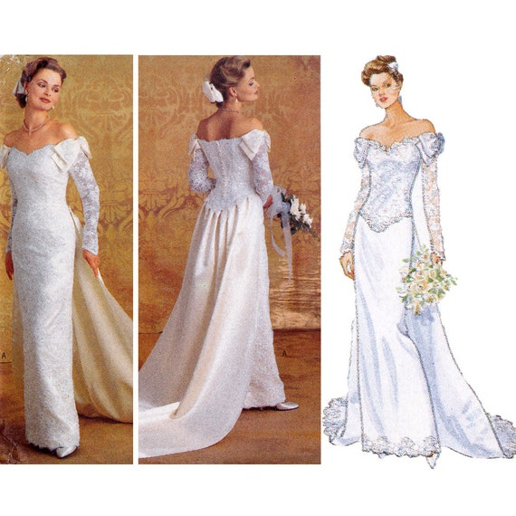 Bridal gown sewing pattern wedding dress pattern butterick for Butterick wedding dress patterns