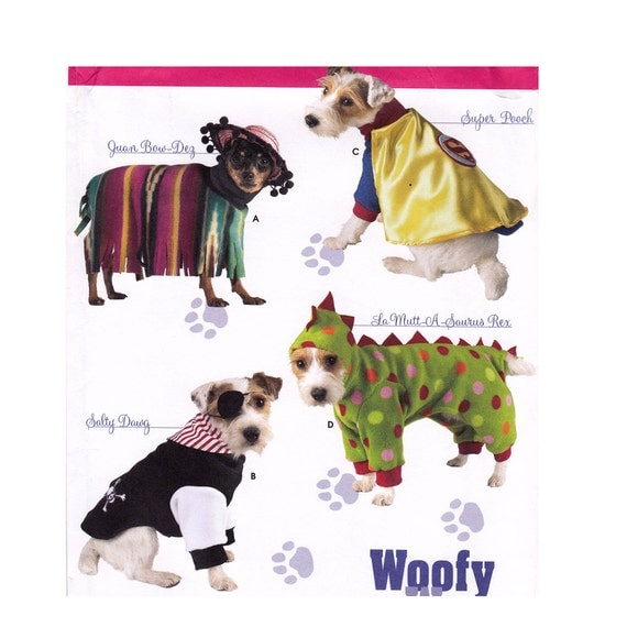 Simplicity 3667 Dog Clothes Sewing Pattern Dog Coat