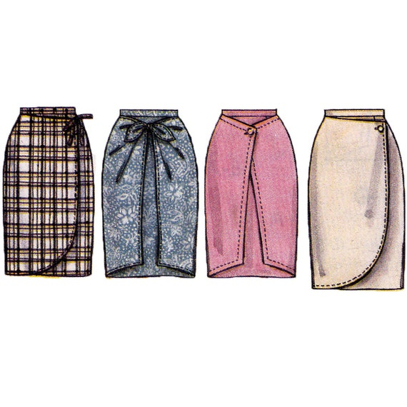 misses mock wrap skirt sewing pattern womens sarong skirt