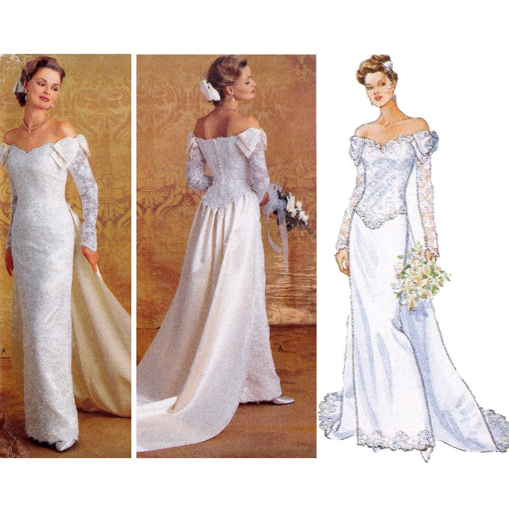 bridal gown sewing pattern wedding dress pattern by zipzapkap With sewing wedding dress