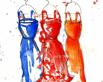 Soiree Watercolor Print