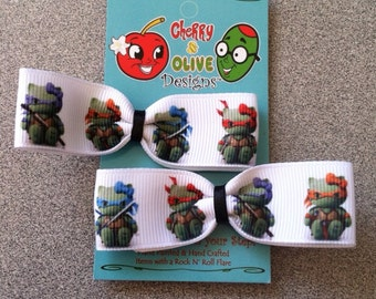 Hello Kitty Ninja Turtles Bows