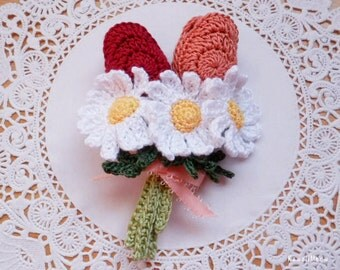 Kawaii Flower Corsage Brooch Tulips