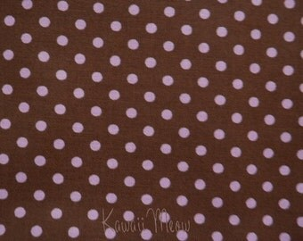 SALE - Polka Dots Brown x Pink Dots - Fat Quarter (12ko0114)