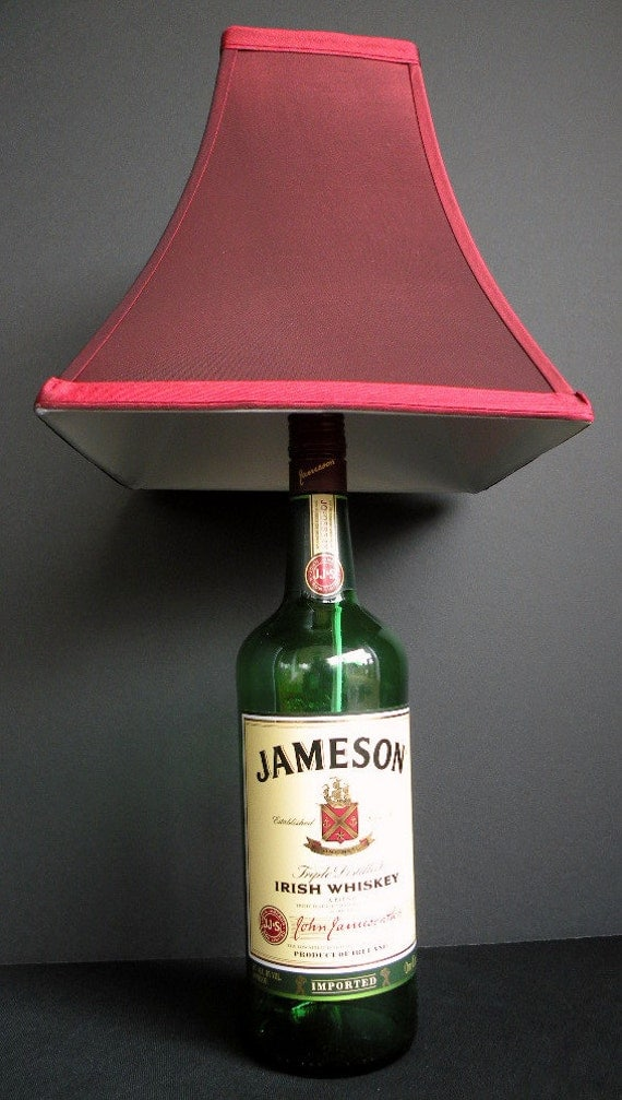 JAMESON Irish Whiskey Recycled Bottle Lamp 1 LiterJameson Irish Whiskey Bottle