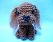 Ruby Cavalier King Charles Spaniel Crochet Dog, Canine, Amigurumi, Stuffed Dog