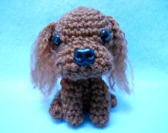 Ruby Cavalier King Charles Spaniel Crochet Dog, Canine, Amigurumi, Stuffed Dog, Dog Lover, Stuffed Animal, Cavie