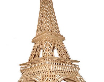 3D Eiffel Tower construction manual - build your own wooden replica