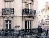 Paris Photography, Room with a view in the Marais, Paris Balcony, Paris Apartment, travel neutral hues, paris print, paris wall art