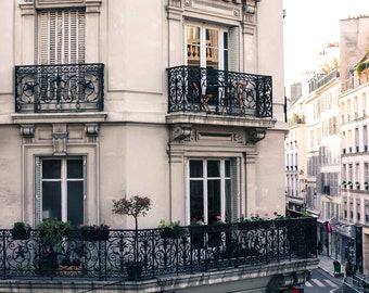 Paris Photography, Room with a view in the Marais, Paris Balcony, Paris Apartment, travel neutral hues, paris print, paris wall art