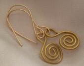 Wire Swirl Earrings