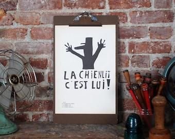 Atelier Populaire Poster Print: Chienlit