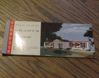 Grants Farm Vintage Souvenir Postcard Booklet 1960's Anheuser Busch