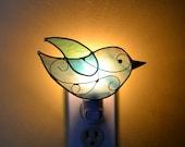Blue Sky Songbird Stained Glass Nightlight
