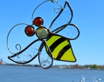 Bumble Bee  Stained Glass Suncatcher