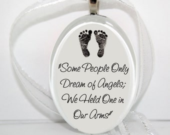 Some People Only Dream of Angels, Oval Glass Ornament