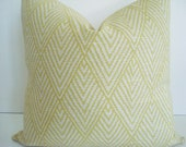 Lacefield  Both Sides-- Decorative Designer Cover - Tahitian Stitch Citron- Ivory /  Grey  Throw / Lumbar Pillows