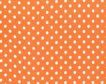 Dumb Dot Tangerine Michael Miller Fabric Orange Polka Dot 1 Yard