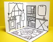 Colorin' Sewing Studio: Mobile Mini Coloring Dollhouses