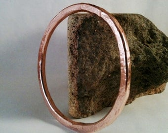 Copper Bangle - Copper Bracelet - Pine Texture