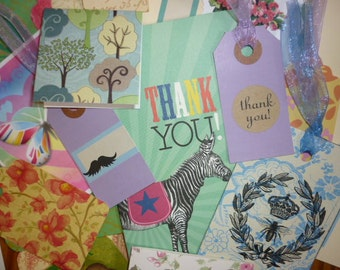 15 Paper Gift Tag Lot Handmade Thank you Tags,Gift Tags