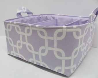 NEW Fabric Diaper Caddy - Fabric organizer storage bin basket - Perfect for your nursery - Geometric Purple