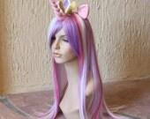 Princess Cadance costume cosplay wig - purple white pink streaked wig / my little pony cosplay / alicorn pony / friendship is magic