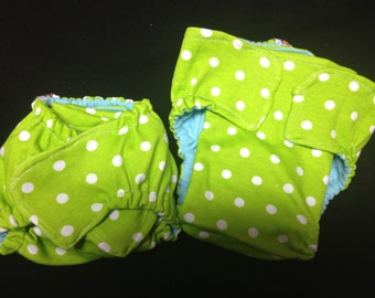 Set of 20 MamaBear - Prefold/Fitted Hybrid One Size Fits All Quick Dry Diapers