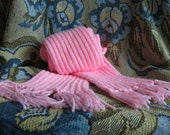 HAND-KNITTED SCARF - Pink, Adult, Warm and Cozy Rib Knit