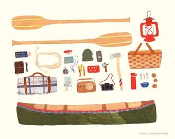 Canoeing 8x10 Print