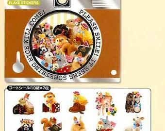 Qlia PHOTRIP - Sticker sack 70 pieces (Baby Animals)