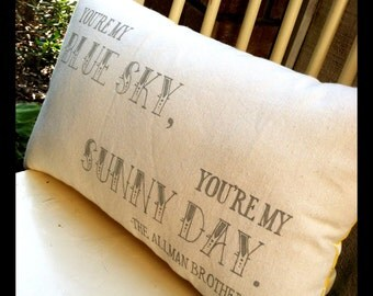 The Allman Brothers, Blue Sky- Double sided lyric pillow