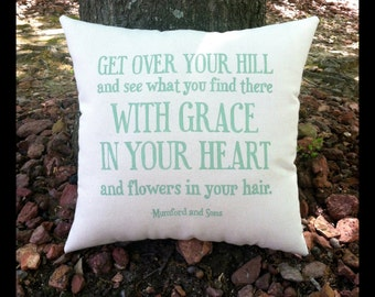 Mumford and Sons- After the Storm, Customizable Lyric Pillow