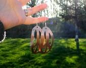 Peace earrings - copper