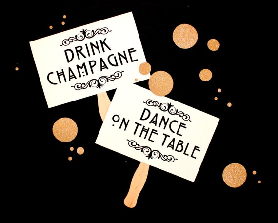 Photobooth Props - Photo Booth Prop. Dance. Black Tie. Toast. Cheer - Party Photo Props