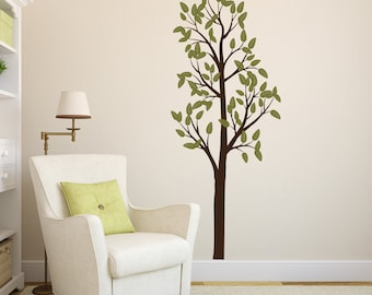 Tall Tree Vinyl Wall Decal- Leafy Tree Graphic item 30027, Sticker, Vinyl Wall Decal.