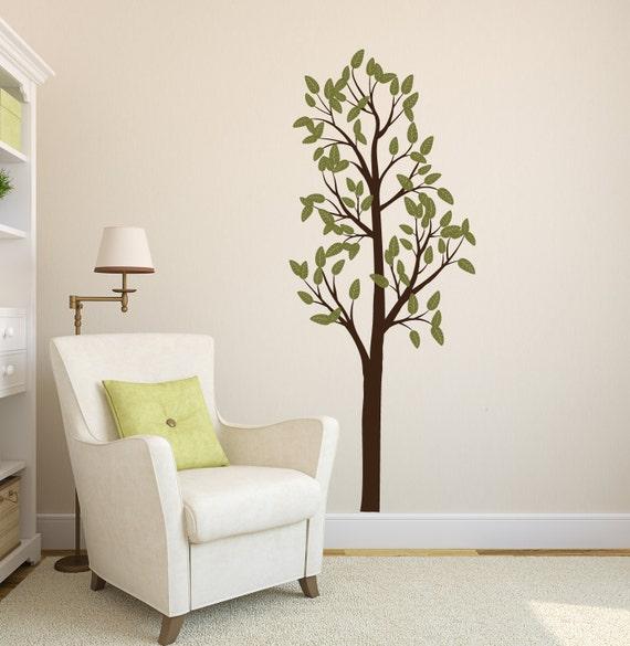 Tall Tree Vinyl Wall Decal- Leafy Tree Graphic item 30027, Sticker, Vinyl Wall Decal.