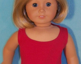 18 inch Doll Red Scoop-Neck Tank Top Tee Shirt