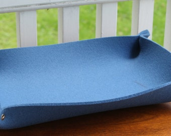 Mail Holders Desk Tray in 5MM Thick Virgin Merino Wool Felt